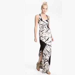 YFB Maelle Black Tie Dye Racerback Tank Maxi Dress